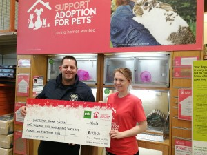 £1932 donated from the Cheltenham store!