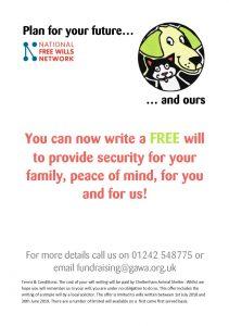 Free Will Writing Service | Cheltenham Animal Shelter