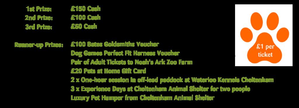 Summer Raffle 2020 Winners Cheltenham Animal Shelter